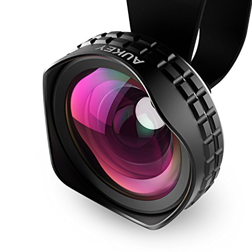 AUKEY Ora iPhone Lens, 110° Wide Angle Clip-on Cell Phone Camera Lenses for Samsung, Android Smartphones, iPhone