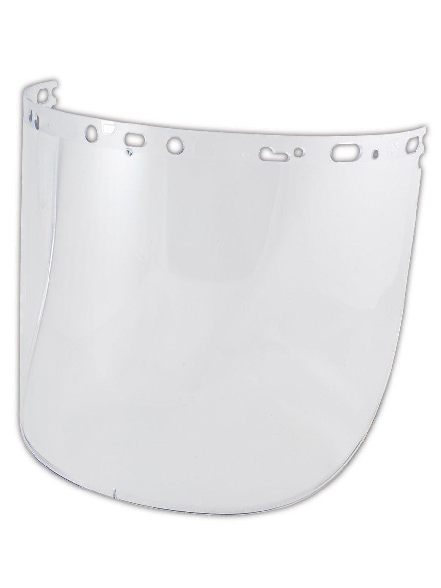 Fibre-Metal Hard Hat WM86PCCLU Polycarbonate Faceshield, 8.5'' x 15'' x .06'', Clear