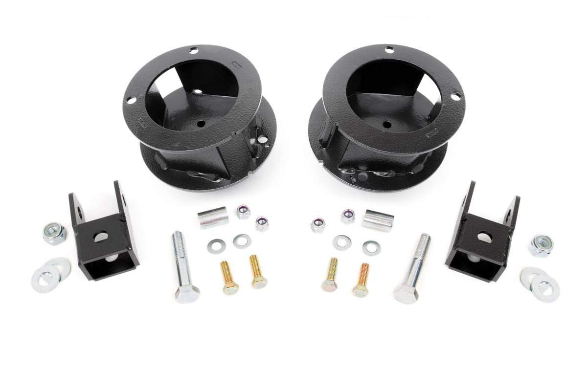 Rough Country - 377-2.5-inch Suspension Leveling Kit for Ram: 14-18 2500 4WD, 13-18 3500 4WD