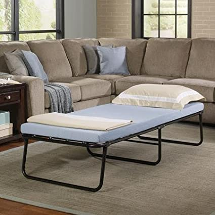 Simmons Foldaway Folding Bed Cot With Memory Foam Mattress Amazon