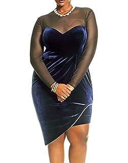 made2envy Velvet Asymmetrical Hem Mesh See Through Sleeves Dress