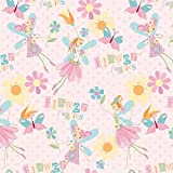 Fairies Pink Alpine Flannel Fabric by the yard F2092