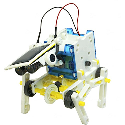 51EYGfefZOL - 14-in-1 Educational Solar Robot   Build-Your-Own Robot Kit   Powered by the Sun