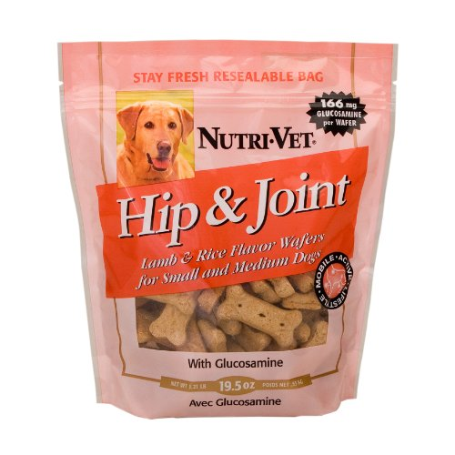 Nutri-Vet® Hip and Joint Lamb and Rice Flavor Wafers for Dogs – Medium Biscuit – 19.5oz, My Pet Supplies