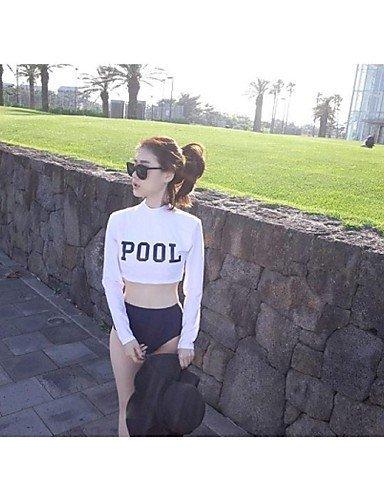ZQ Mujer Diving Suit UV Bañador Bikini bañadores de capa sun-protective medusas manga larga traje trajes = parte superior + pantalones, xl, extra-large m
