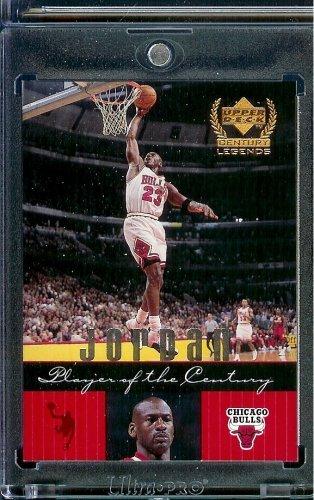 1999 Upper Deck Century Legends Basketball Card # 83 Michael Jordan Chicago Bulls -Shipped In A Protective ScrewDown Case!