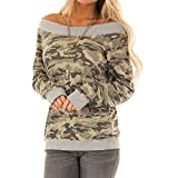 2018 Clearance Fashion Women Casual O Neck Camouflage Long Sleeve Shirt Blouses Tops