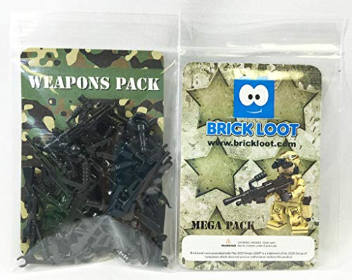MEGA Pack 86 Weapons - Designed for LEGO and other - Vest Western Cowboy Plastic