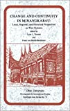 Change and Continuity in Minangkabau, Lynn L. Thomas, 0896801276