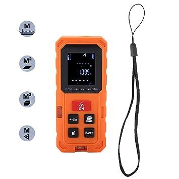 Akozon Telémetros láser, Medidor Laser de Distancia Profesional Precisión 2mm(60M)