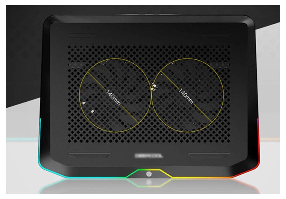 Ho,ney Notebook Cooler - Home Notebook Radiator Base Bracket Computer Cooling Silent Fan 14 15.6 Inch Air Cooled and Durable -1053 Notebook Cooler by Ho,ney (Image #1)