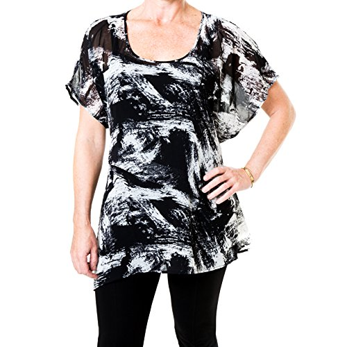 Bodisure Plus Size Womens Fashion Print Top (Size 18-20)