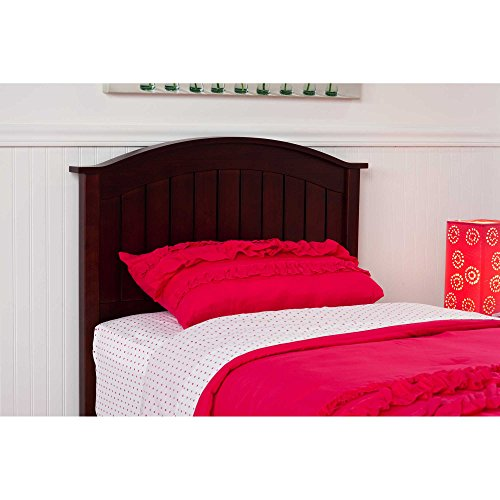 Finley Wooden Headboard Panel with Curved Top Rail Design, M