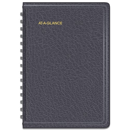 AT-A-GLANCE 2014-2015 Academic Year Daily Appointment Book, Wirebound, Black, 4.88 x 8 Inch Page Size (70-807-05)
