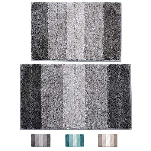 wovwvool Bathroom Rugs Plush mat Polyester Microfiber Non-Slip,Soft,Absorbent and Machine (20