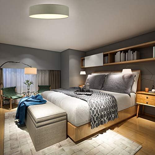 Briloner Leuchten Deckenleuchte, Deckenlampe 2 x E27 max. 40 Watt, Stoffschirm Farbe: taupe, Ø 38 cm