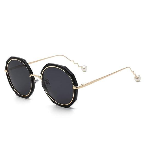 parzinkk Gafas De Sol Tendencia Cara Redonda Gafas De Sol ...