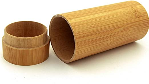 Estuche para gafas, Caja de gafas de sol de bambú natural hecho a mano Caja de