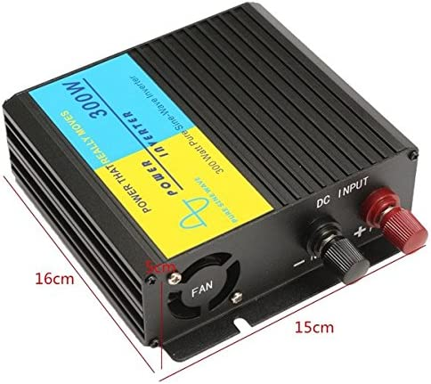 GGGarden 300W Pure Sine Wave Power Inverter Charger Adapter 12V DC to 220V AC