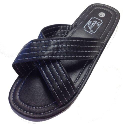 Heren Crossband Sandaal Van Easy Black
