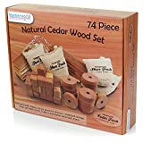 HANGERWORLD 74 Mixed Cedar Wood Pieces Natural Moth Repellent Drawers Clothes Wardrobe