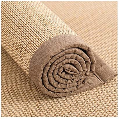 JIAJUAN Japanese Traditional Bamboo Fiber Non-Slip Thick Living Room Coffee Table Floor Carpet Mat Summer Area Rug Color : B