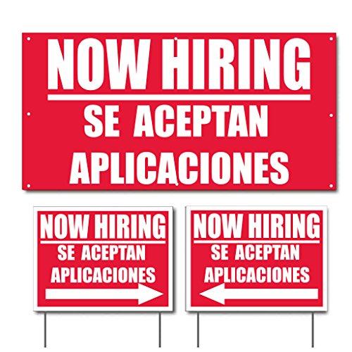 - Now Hiring Se Aceptan Aplicaciones 2'x4' (1) Banner & 18