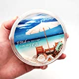 Canplow Beach Fun Liquid filled Acrylic Paperweight, Find the Message from the floating Shell, Sand, and Message Bottle