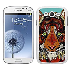 FUNDA CARCASA PARA SAMSUNG GALAXY GRAND NEO TIGRE ESTAMPADO BORDE BLANCO
