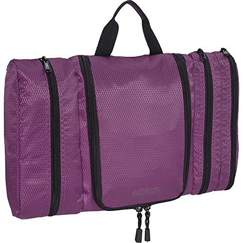 eBags Pack-it-Flat Hanging Toiletry Kit for Travel - (Eggplant)