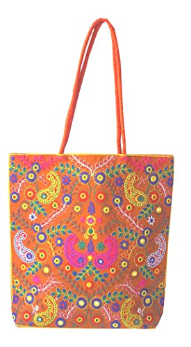 Style and Culture Silk embroidered shoulder Bag