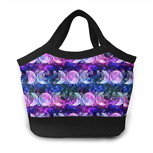 - Lunch Bag Tote Bag Triple Goddess Moons And Stars Reusable Insulated Lunchbox With Zipper For Work School Picnic Beach
