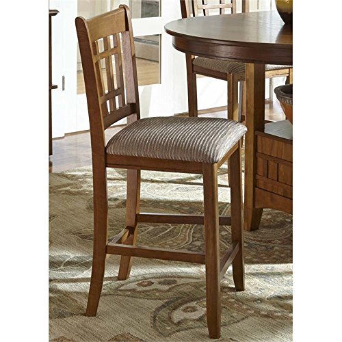 Liberty Furniture 25-BS8624 Santa Rosa Rub Dining Misson Barstool, 19