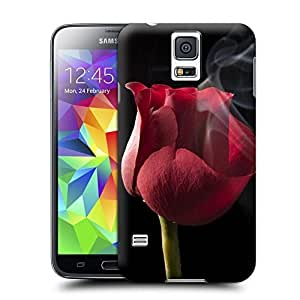 Unique Phone Case Flowers Art rose smoke black background close up Hard Cover for samsung galaxy s5 cases-buythecase by heywan