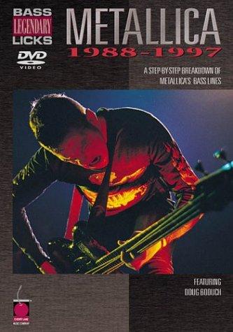 Licks Bass Legendary - Cherry Lane Metallica - Bass Legendary Licks 1988-1997 (DVD)