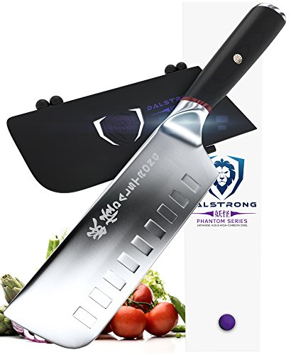 "DALSTRONG Nakiri Vegetable Knife - Phantom Series AUS8 Japanese Steel- 6"" - Pakkawood - Guard Included"