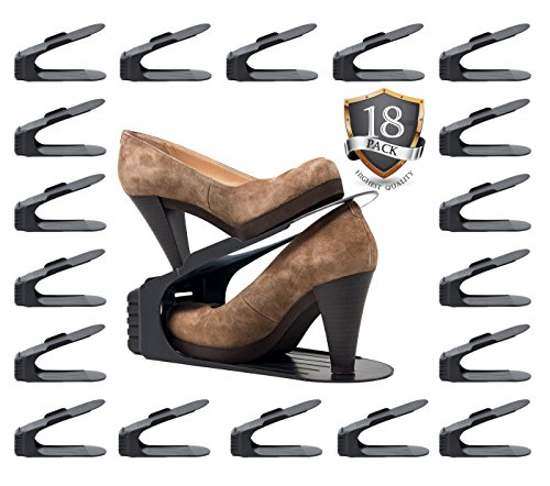 - Benji Bros Space Saver 18 Piece Set Shoe Rack Organizer (18 Piece Set)