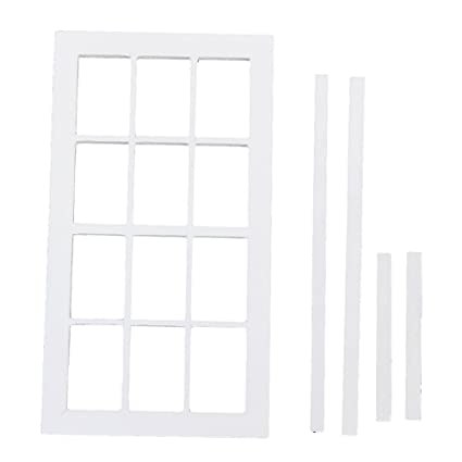 Mini Simulation Wooden Window Furniture for 1:12 Scale Doll House Parts