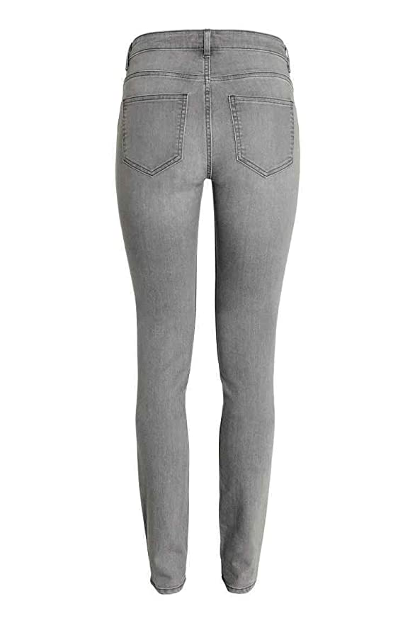 HM Mujer Super Estiramiento Regular Pantalones - Gris - UK16 ...