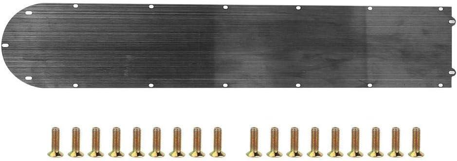 Cubierta Protectora de la bater/ía de Acero Inoxidable 304 para Scooter el/éctrico Mijia M365 Negro Solomi Cubierta Inferior de la bater/ía del Scooter