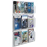 TableTop King LRC107 30'' x 35'' Clear-Vu Combination Pamphlet and Magazine Display with 6 Pamphlet Pockets and 6 Magazine Pockets