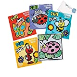 Bargain World Paper Spring Fun And Games Activity Books (With Sticky Notes)