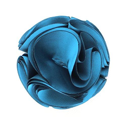 Merdia Vintage Silk Flower Hair Clip and Brooches Pin(Blue)