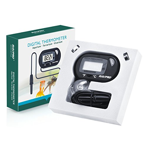 Aquarium thermometer risepro 2 pack digital water for Aquarium thermometer