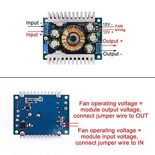 DROK 90483 DC Car Power Supply Voltage Regulator Buck Converter 8A/100W 12A Max DC 5-40V to 1.2-36V Step Down Volt Convert Module by DROK (Image #1)