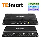 TESmart New KVM Switch 4 Port HDMI | 4K 60Hz Ultra HD | Multimedia with Audio Output [Connect Multiple PC's, Laptops, Gaming Consoles to One Video Monitor, Keyboard, and Mouse]