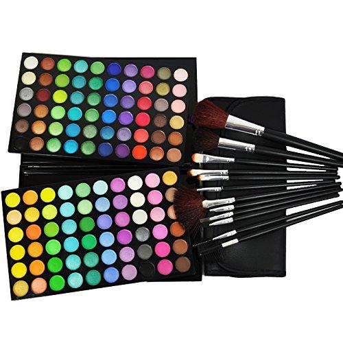 Beauties Factory 120 Color Eyeshadow Palette #2  & 12 pcs Br