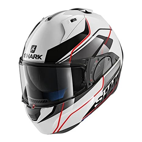 Shark Tibur/ón motocicleta cascos tama/ño M color blanco//negro//rojo