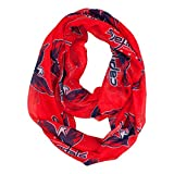 NHL Washington Capitals Sheer Infinity Scarf, One Size, Red