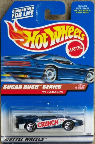 Hot Wheels - 1998 Sugar Rush Series - 1995 Camaro - Nestle Crunch Paint Job - #3 of 4 - Die Cast - Limited Edition - Collectible 1:64 Scale ()